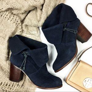 Splendid Fold over Cuff Block Heel Boots
